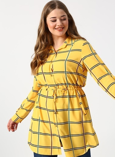 Ekol Ekol 3428 Sarı Kadın Tunik Sarı